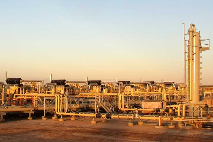 Natural Gas Plant at Sunrise